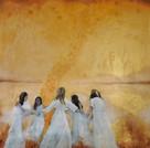 Dancing into May - 115 x 115 cm - 26000 NOK