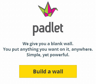 padlet - we give you a blank wall. You put anything you want on it, anywhere. Simple, yet powerful.