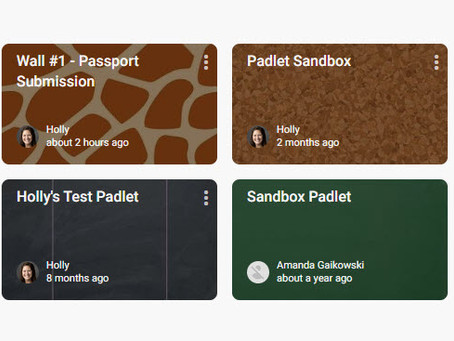 Learning New Tools: Padlet (take 2)