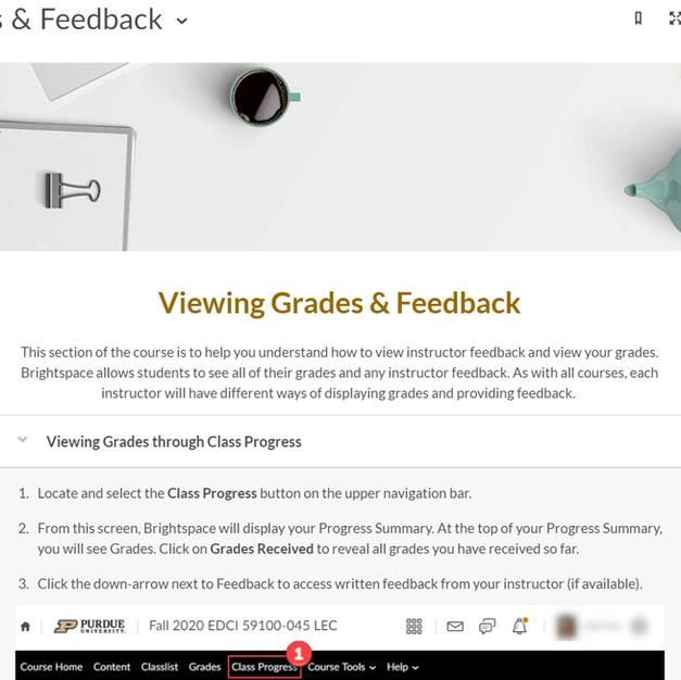Brightspace Grades & Feedback