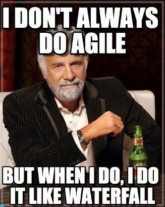 Agile Waterfall Meme