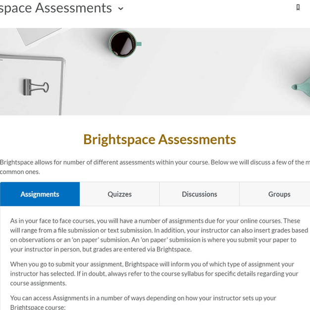 Brightspace Assessments