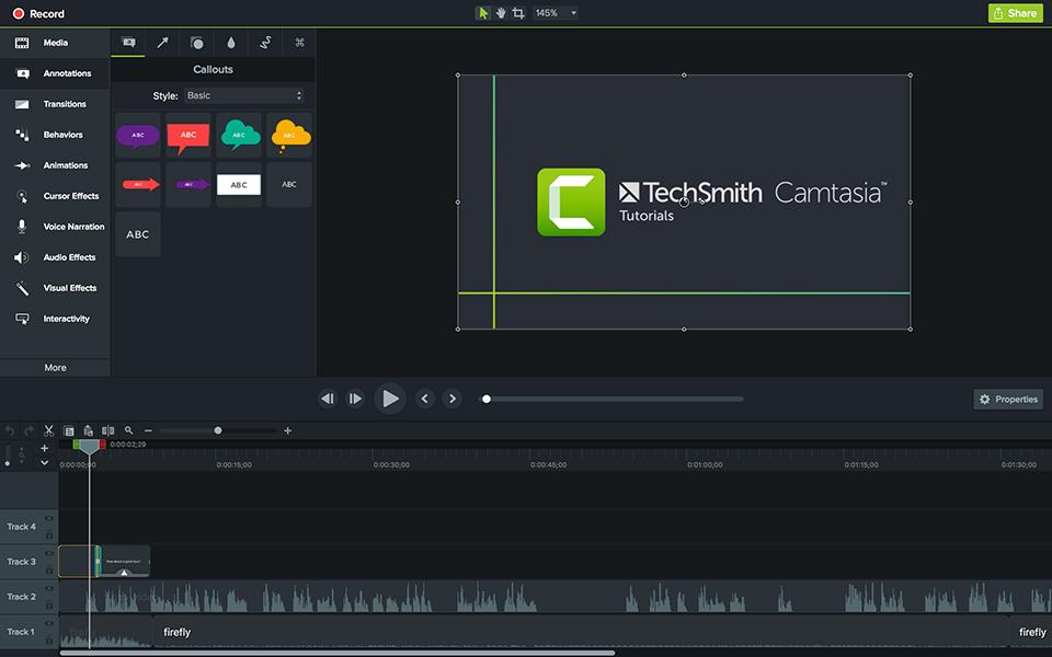 Camtasia Screenshot