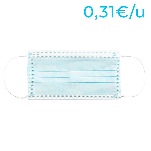 Mascarillas higiénicas no reutilizables para adultos - PACK 1600 Unidades