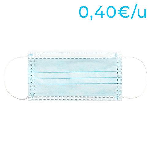 Mascarillas higiénicas no reutilizables para adultos - PACK 50 Unidades