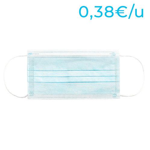 Mascarillas higiénicas no reutilizables para adultos - PACK 200 Unidades