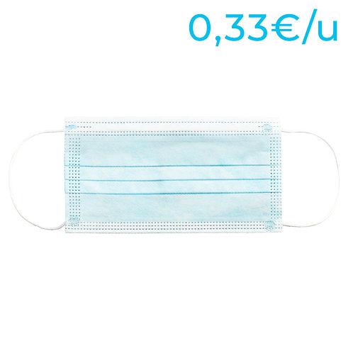 Mascarillas higiénicas no reutilizables para adultos - PACK 800 Unidades