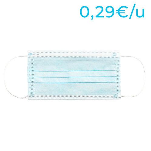 Mascarillas higiénicas no reutilizables para adultos - PACK 5000 Unidades