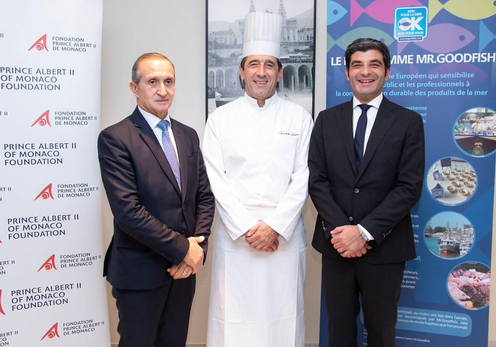 Stefano Brancato, Franck Lafon (Chef du Café de Paris Monte-Carlo), Olivier Wenden