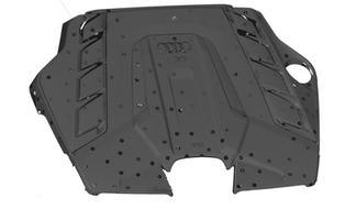 3Д сканирование крышки Audi RS внешняя сторона
