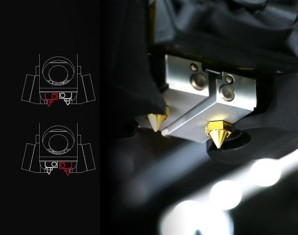 Двойной экструдер 3d принтера Raise3D Pro 2 Plus