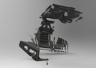 3Д сканирование салона вездехода Thor