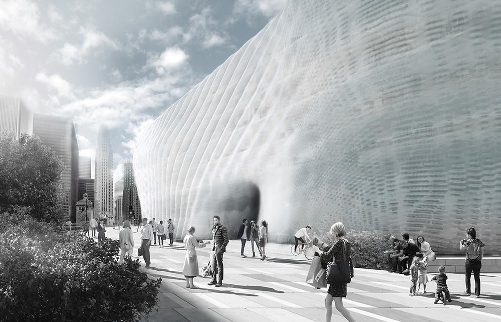 Фасад музея с помощью 3D печати для Немецкого музея в Мюнхене