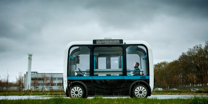 Автономные автобусы Olli изготовленные с помощью 3d печати