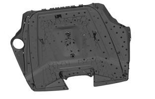 3Д сканирование крышки Audi RS внутренняя сторона