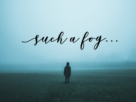 I've been in such a fog...