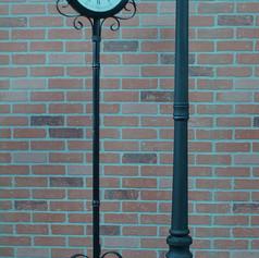clock and light pole