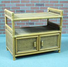 wicker wall table