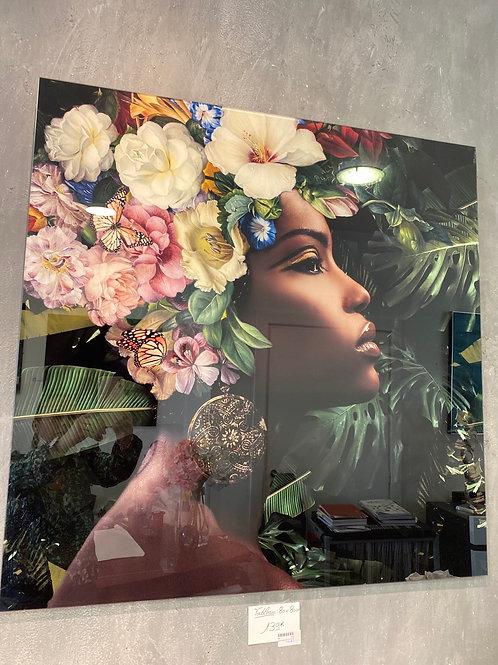 Tableau femme fleurs