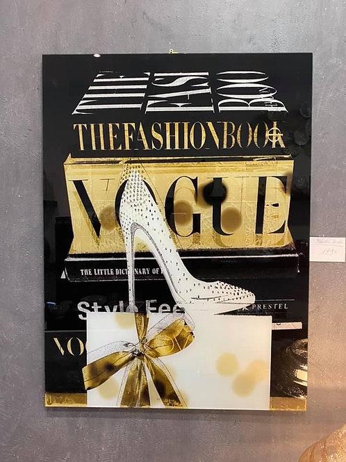 Tableau chaussure en verre