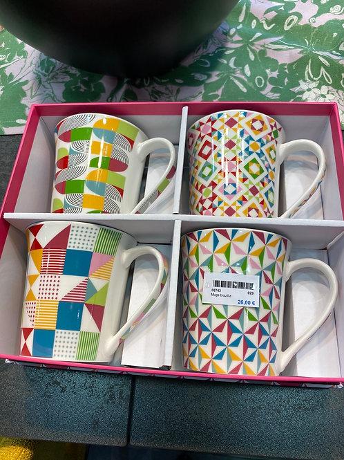 Mugs Brasilia x4