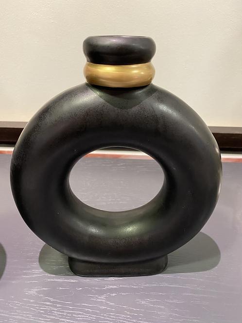 Vase noir mate