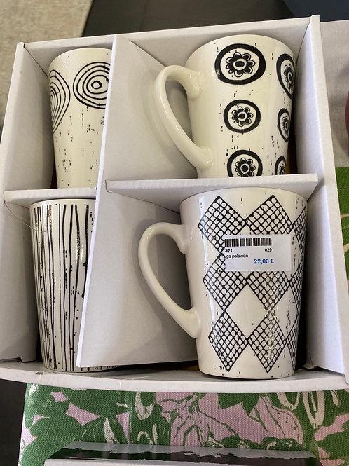 Mugs palawan  x 4 pieces