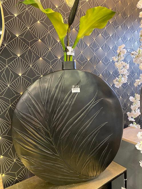 Vase noir feuille 83 cm