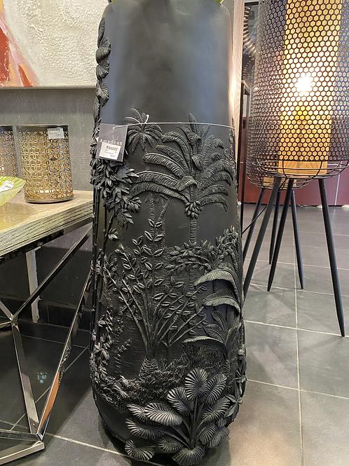 Grand Vase feuille noir