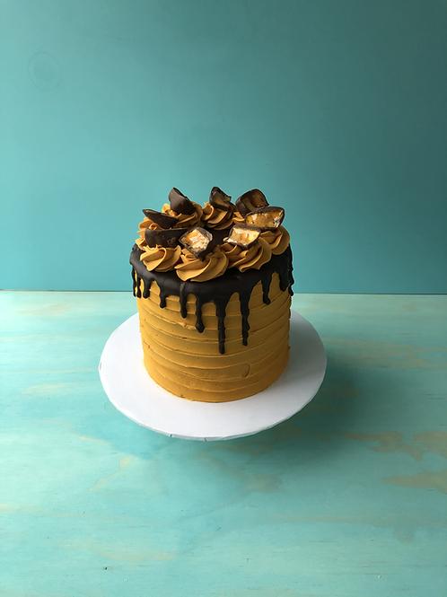 Honeycomb over Cake