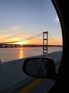 Sunrise over the Chespeake Bay Bridge