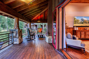 Porch in lake tahoe, lakefront home, cabin living