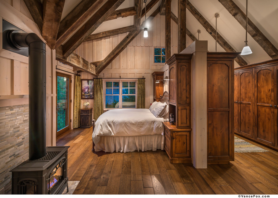 Interior design of rustic tahoe home