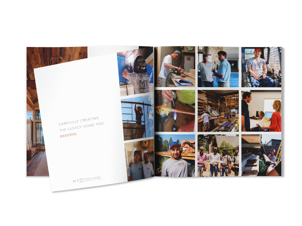 Square images in a brochure construction