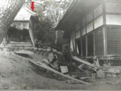 震災直後の宗徳寺