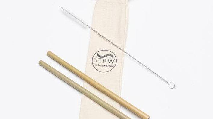 STRW Bamboo Straw Pack