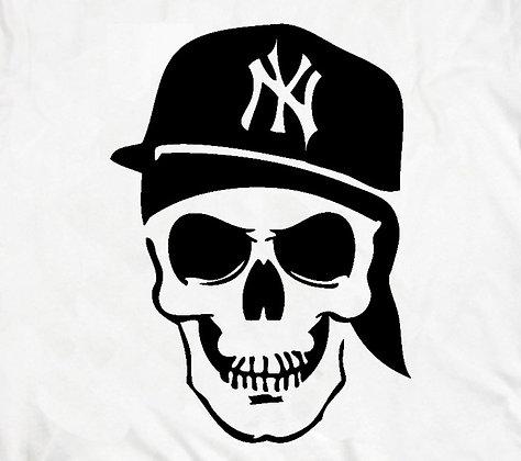 NY Skull White