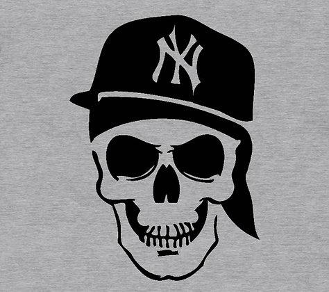 NY Skull Gray