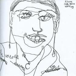 Elana Cafe Nero Drawing