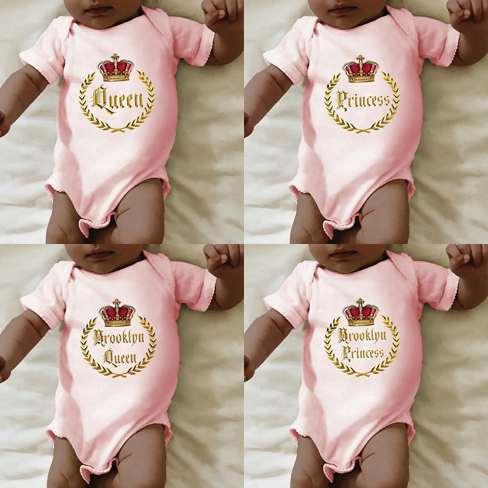 Rekanize Baby Queen and Princess Onesies