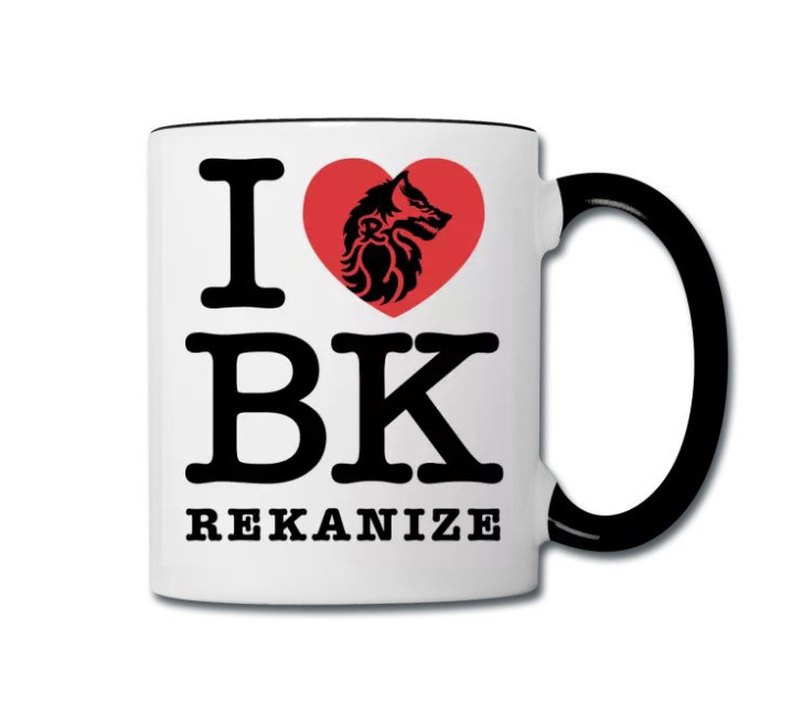 I Love BK Contrast coffee/tea mug