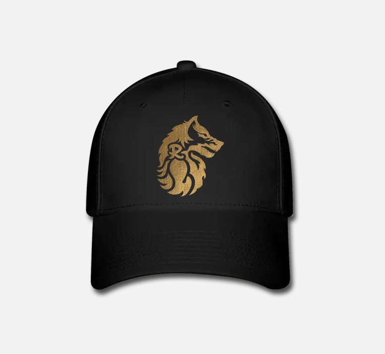 Rekanize baseball cap with Rekanize wolf logo in gold