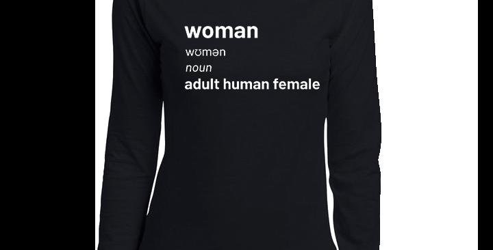 Women's Long Sleeve Adult Human Female T-Shirt