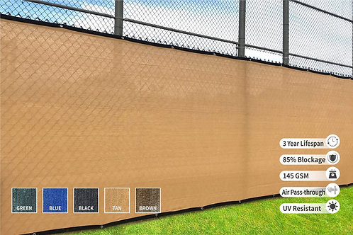 "HEAVY DUTY 6' x 50' (5'8"") Privacy Fence Screen 85% Blockage"