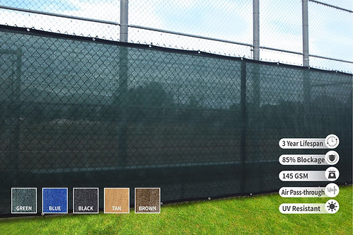 "HEAVY DUTY 5' x 50' (4'8"") Privacy Fence Screen 85% Blockage"