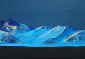 Night Ridge 2, Oil on Canvas, 16x12 inches
