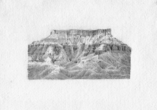 Arizona drawing, Pencil on Paper, 12x8cm