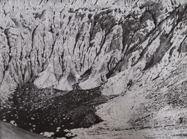 Death Valley, Graphite and Chalk on Paper