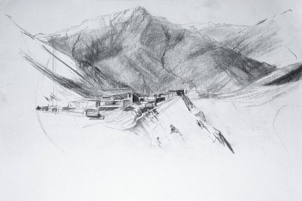 On-site sketch, Tibet