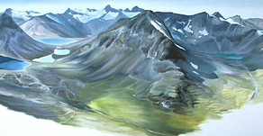 Day 14 Jotunheimen, Oil on Canvas, 6ft9 x 2ft3